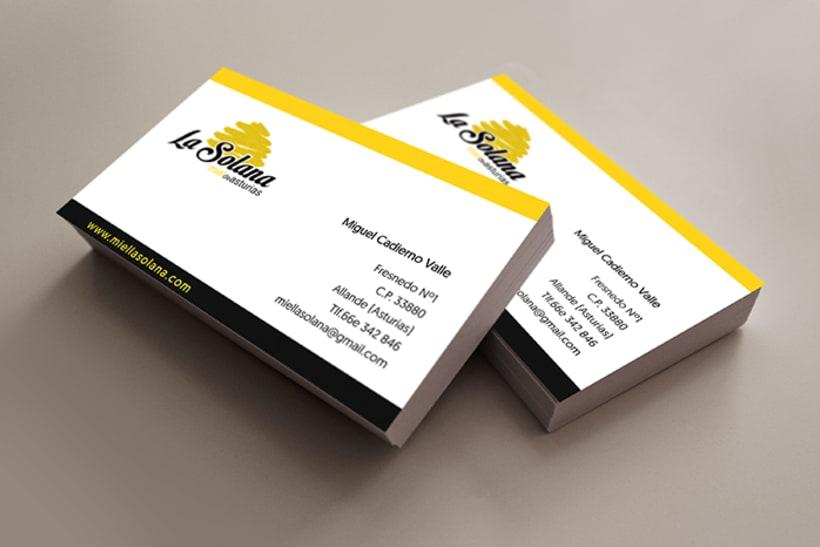 Packaging  e identidad corporativa Miel la Solana. 1