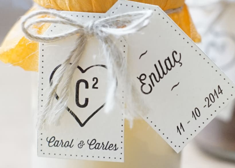 Diseño de trajetas para packaging de boda 2