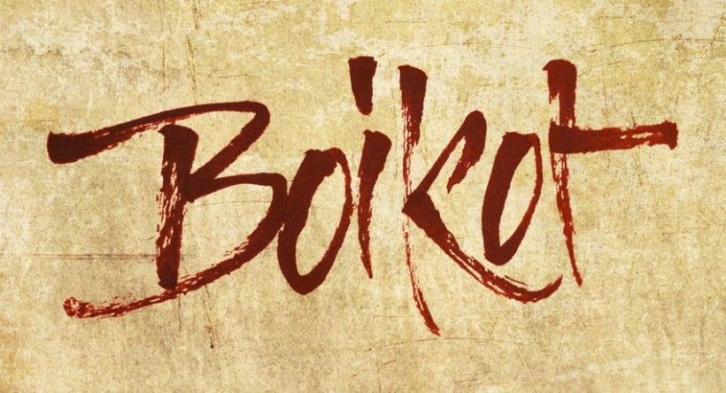 Boikot - Caligrafia con pincel 1