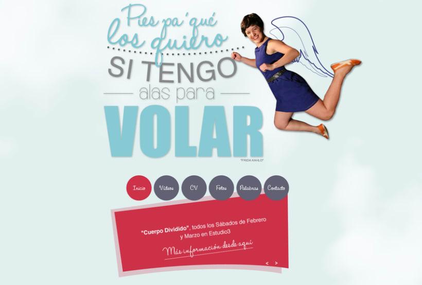 Diseño grafico y Web de actriz Naiara Murguialday -1