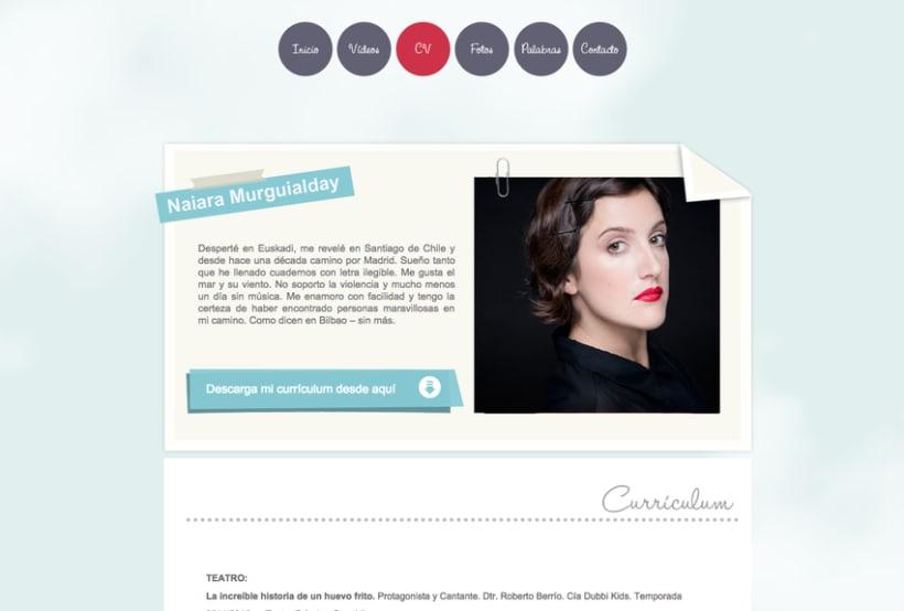 Diseño grafico y Web de actriz Naiara Murguialday 0