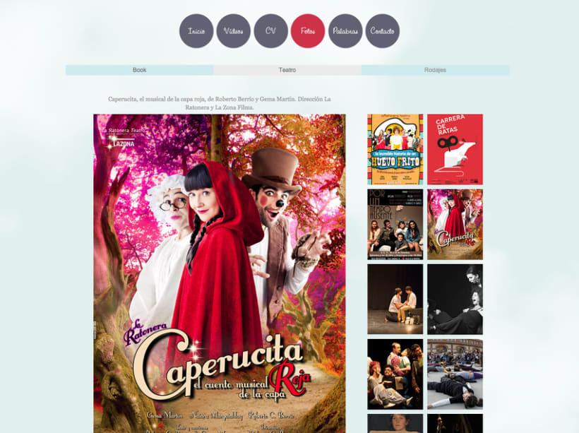 Diseño grafico y Web de actriz Naiara Murguialday 1