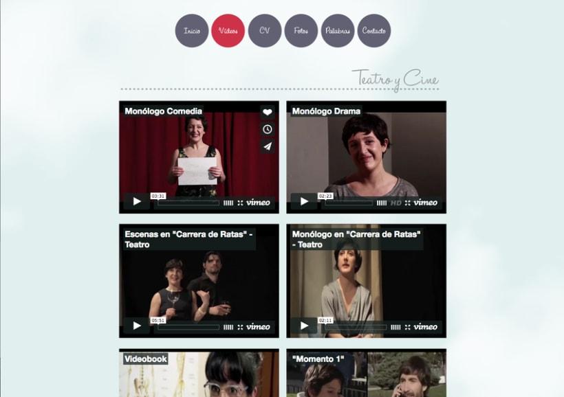 Diseño grafico y Web de actriz Naiara Murguialday 2