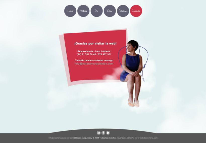 Diseño grafico y Web de actriz Naiara Murguialday 3