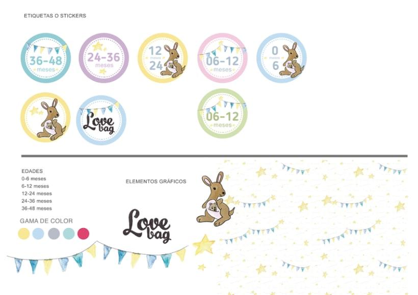 Diseño gráfico de la identidad corporativa Lovebag 7