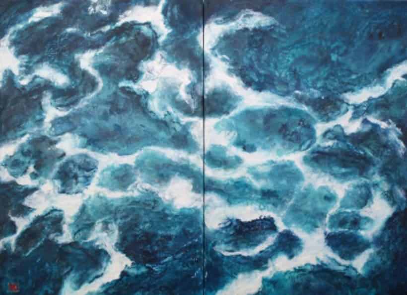 """colección de pintura a la encáustica """"océanos"""" 2"""