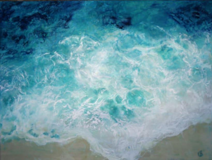 """colección de pintura a la encáustica """"océanos"""" 4"""