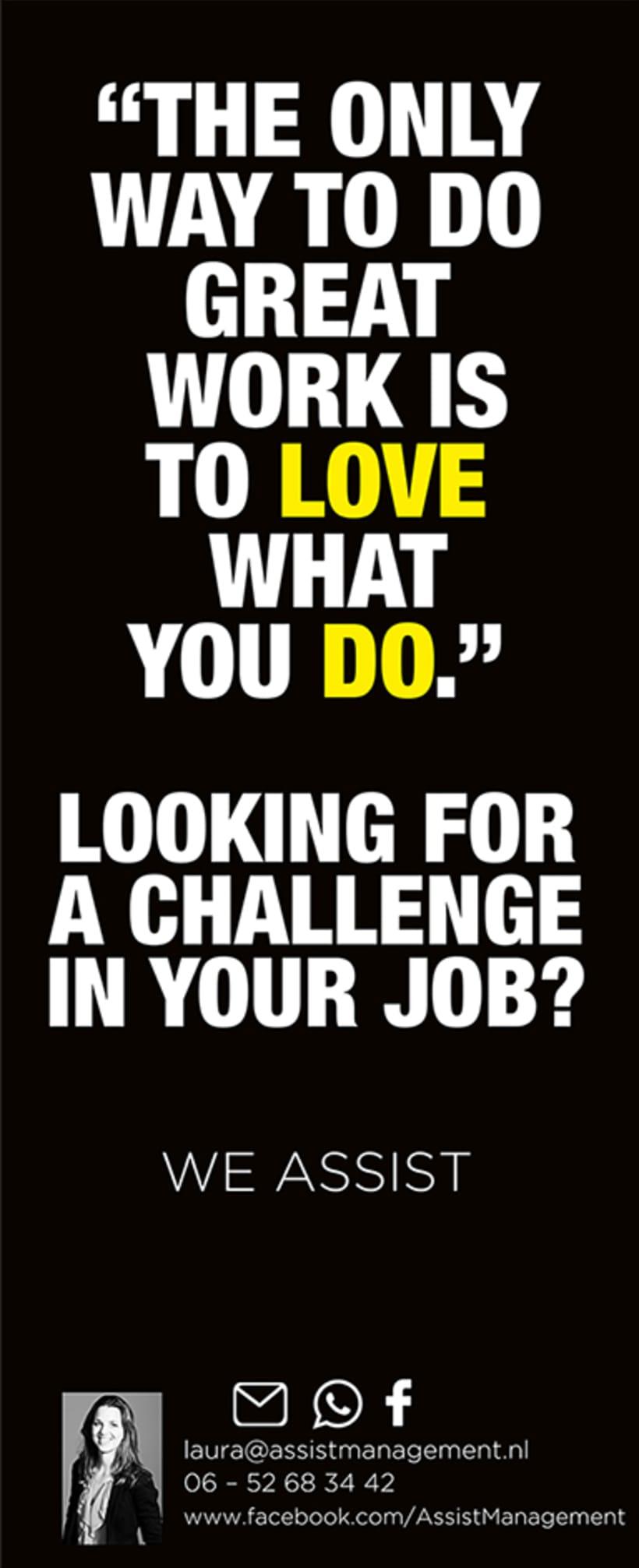 Campaña publicitaria / Países Bajos  -Looking for a challenge?- 0