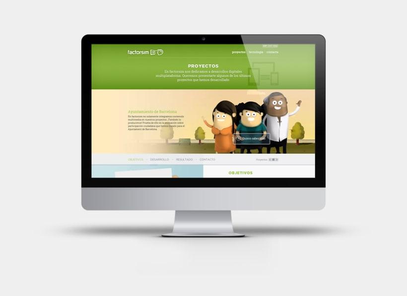 Apartado de proyectos en la web de Factorsim -1