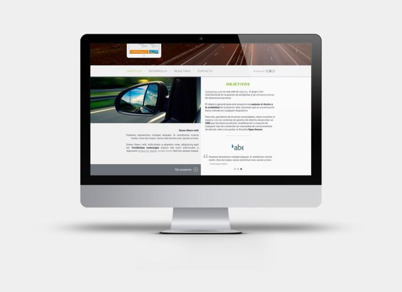 Apartado de proyectos en la web de Factorsim 0