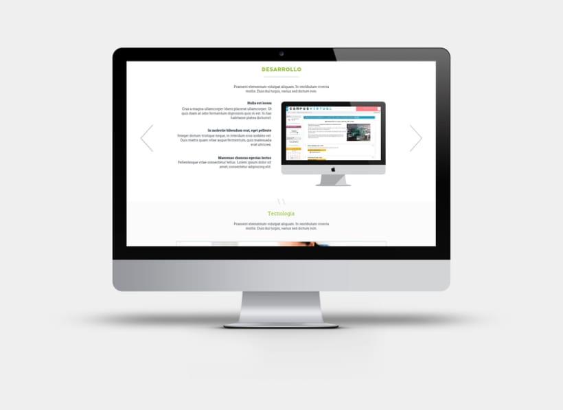 Apartado de proyectos en la web de Factorsim 1