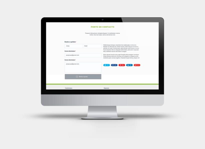 Apartado de proyectos en la web de Factorsim 3