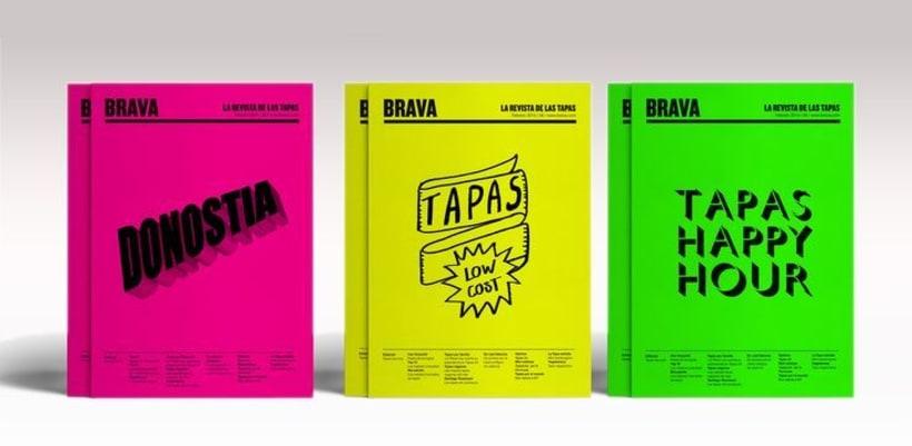 Brava. Proyecto editorial_Revista de tapas y de rutas por diferentes ciudades. Natalia Nebot_Laura Soriano 0