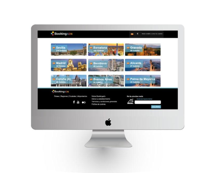 Diseño de interfaz - BookingADN 0