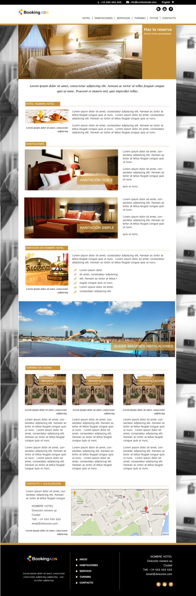 Diseño de interfaz - BookingADN 1