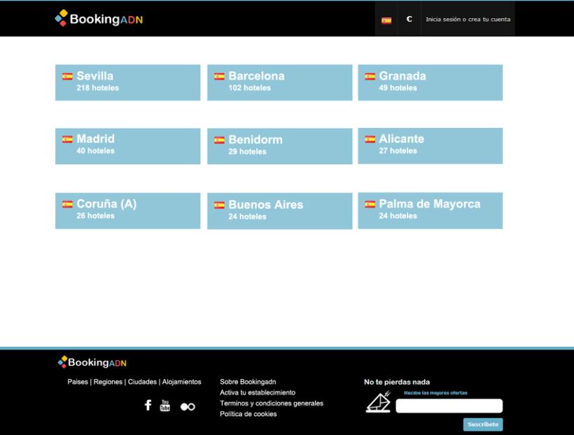 Diseño de interfaz - BookingADN 3