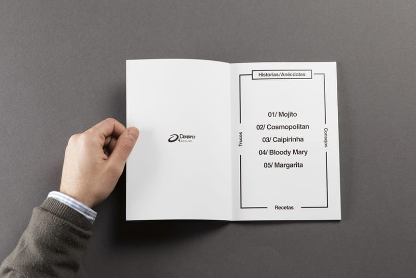 Diseño de carta de cocktails para Nectar Events 1