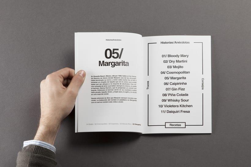 Diseño de carta de cocktails para Nectar Events 2