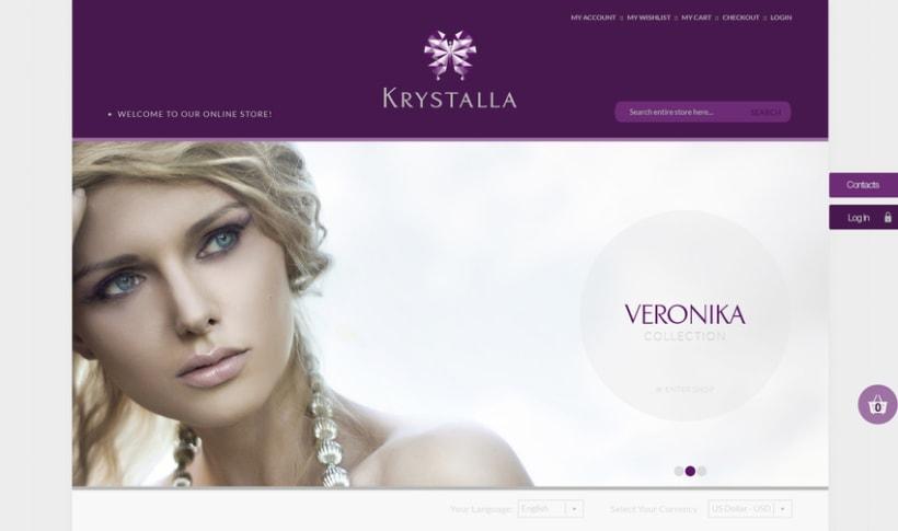 BRANDING - Krystalla (tienda online de joyas) 0