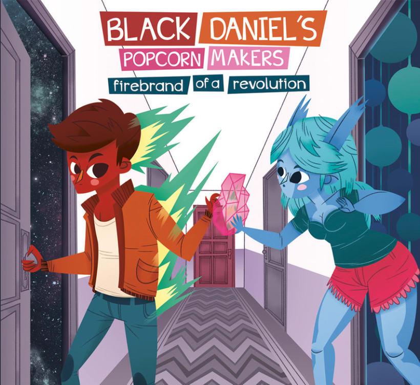 BLACK DANIEL'S POPCORN MAKERS ALBUM ILLUSTRATED 0