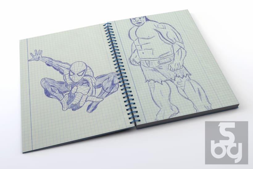 Dibujos en el tren 1