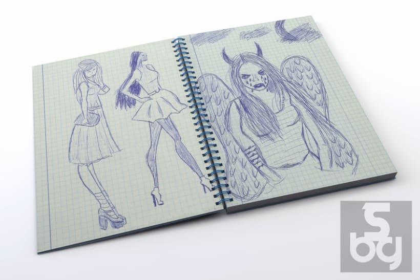 Dibujos en el tren 4