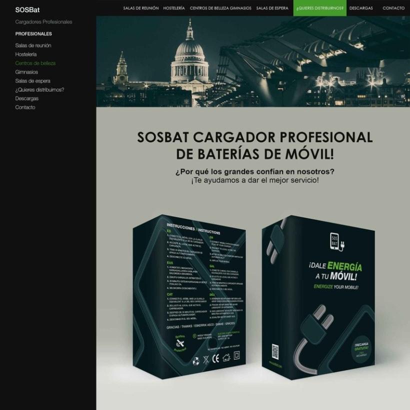 PACKAGING Y FLYERS - SOSBat (Cargador de baterías de móvil portátil) -1