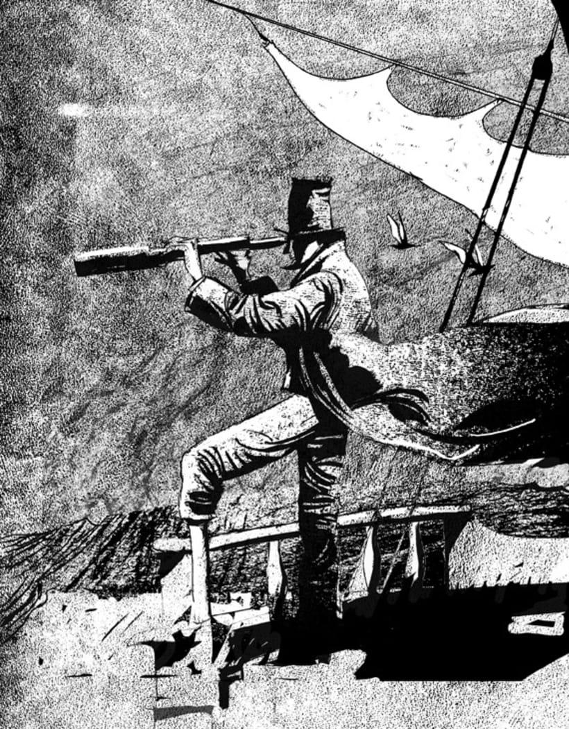 moby dick, relato grafico ilustrado -1