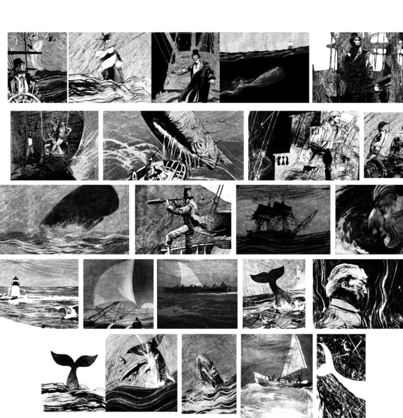 moby dick, relato grafico ilustrado 0