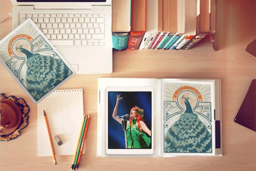 Cartel concierto Florence + The Machine para el curso Ilustración para music lovers 3