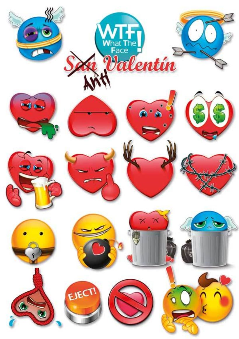 WTF Emoticonos ·ilustración para apps· 2