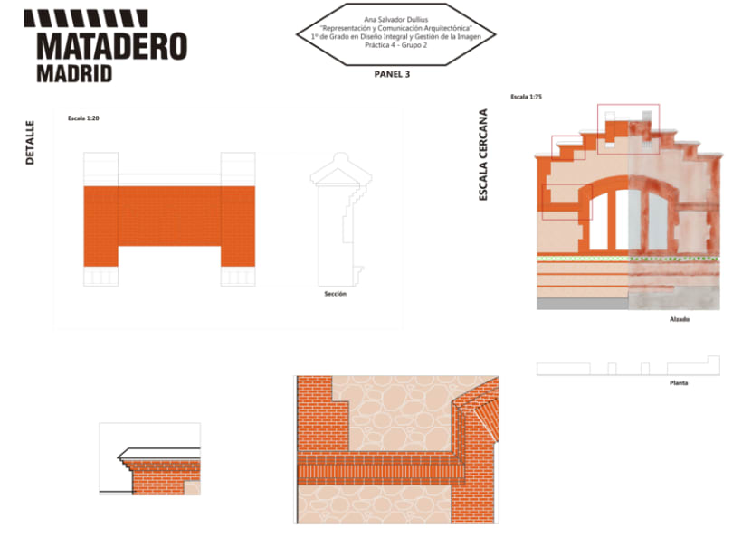 Representación Arquitectónica de MATADERO Madrid 1