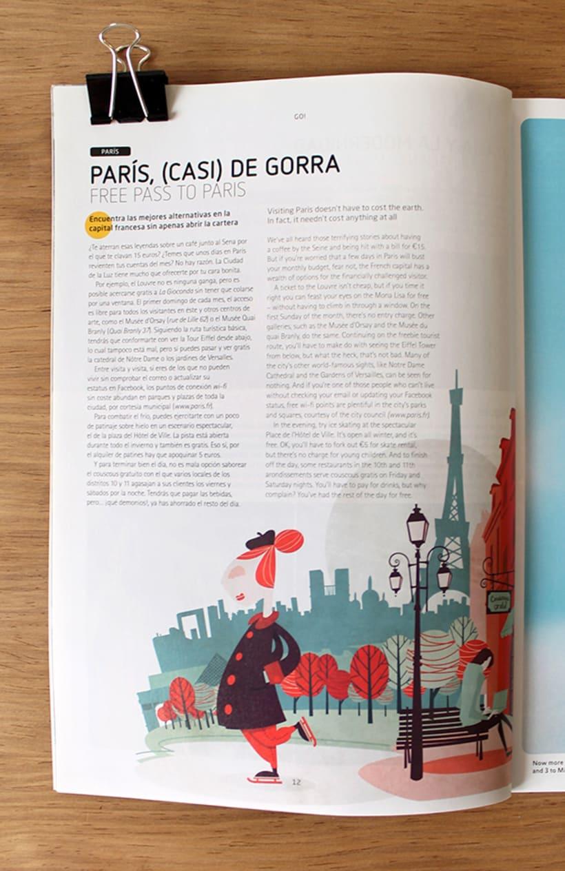 Ilustraciones para Ling Magazine de Vueling. 8