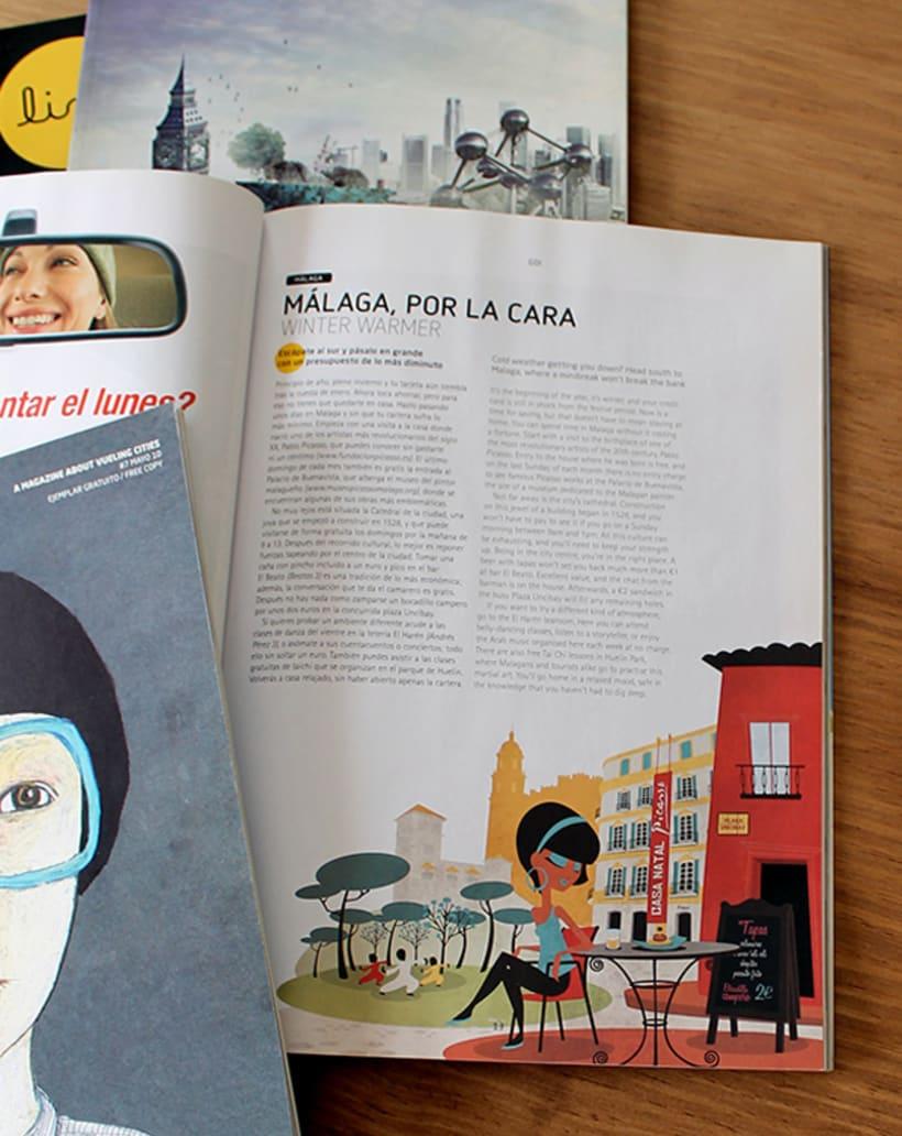 Ilustraciones para Ling Magazine de Vueling. 10