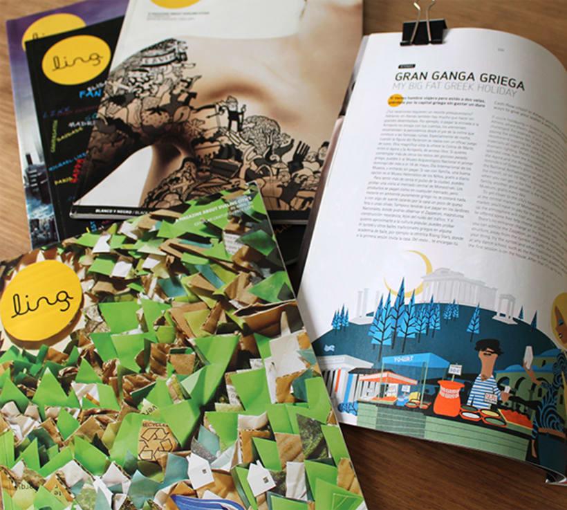 Ilustraciones para Ling Magazine de Vueling. 12