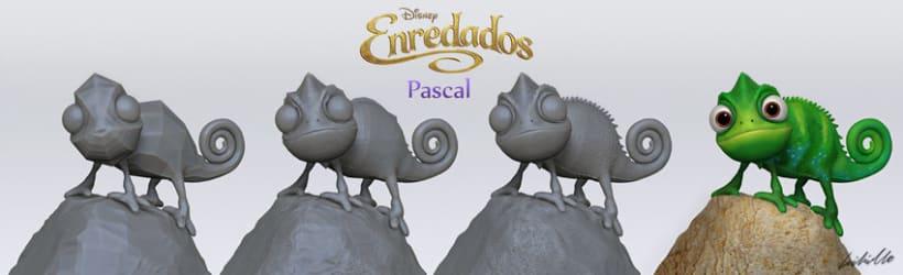 Rapunzel y Pascal - Enredados 4