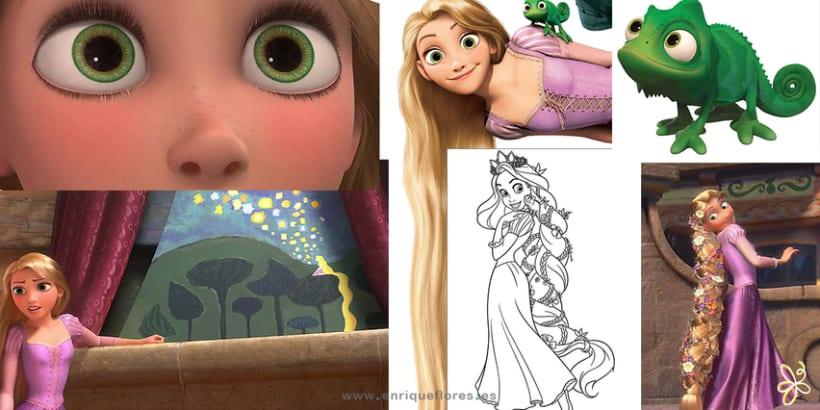 Rapunzel y Pascal - Enredados 5
