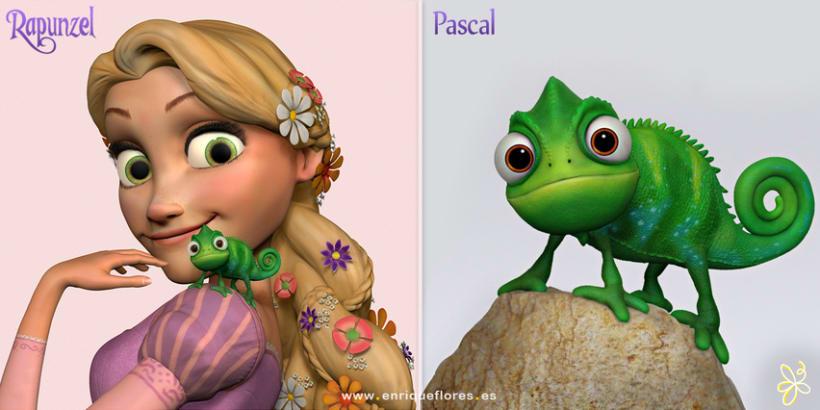 Rapunzel y Pascal - Enredados 2