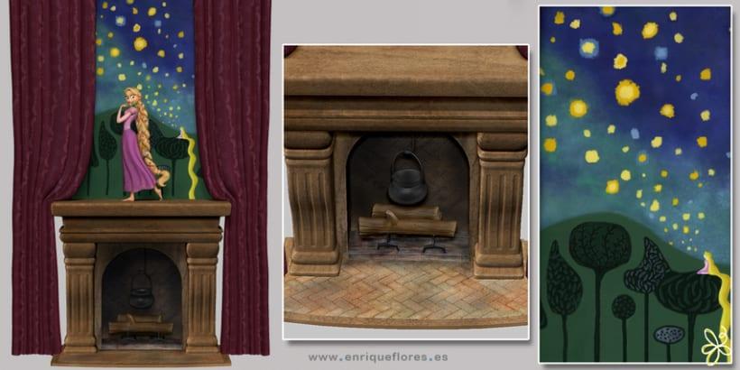 Rapunzel y Pascal - Enredados 3