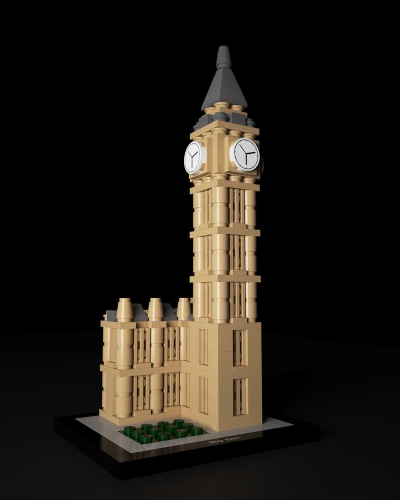 Lego Architecture Big Ben | Lego Big Ben Domestika