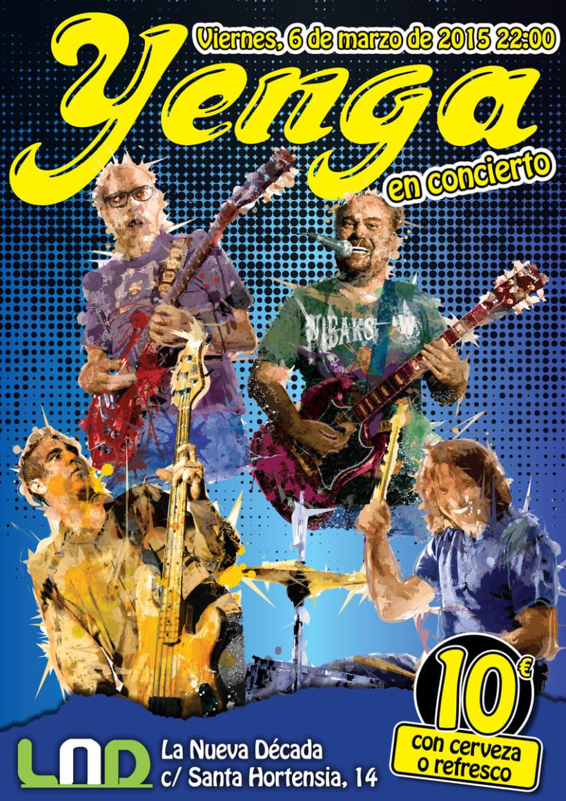 Cartel para concierto de Yenga -1