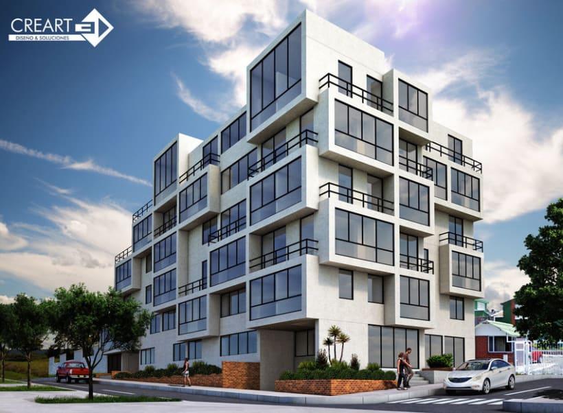 Edificio bahiano visualizaci n 3d interior y exterior for Exterior edificios