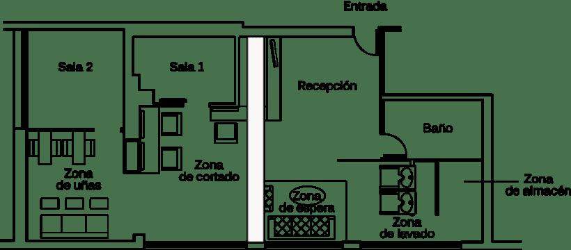Dise o interior de sal n de belleza domestika - Plantas de interior para salon ...