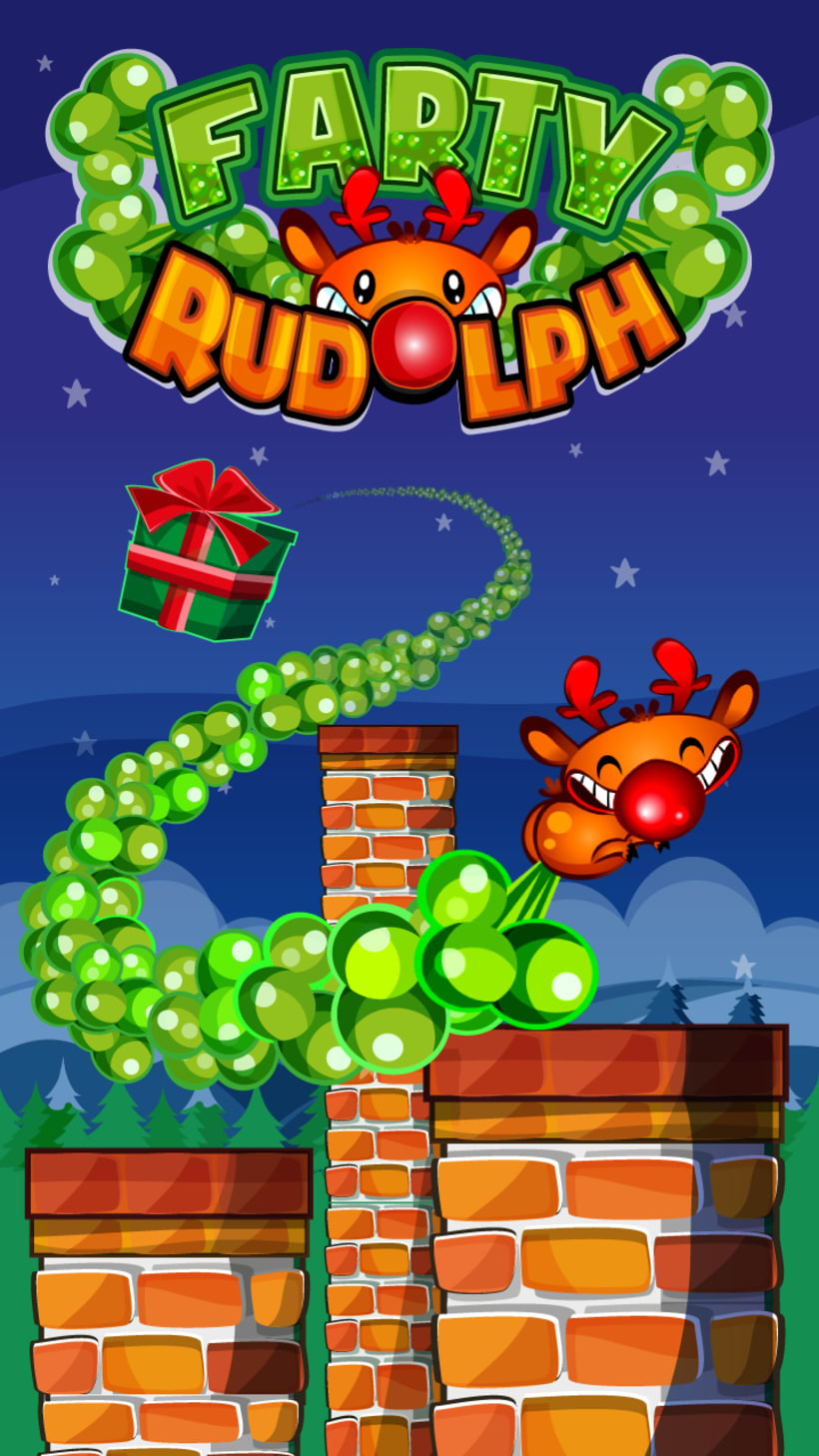 Farty Rudolph Mobile Game -1