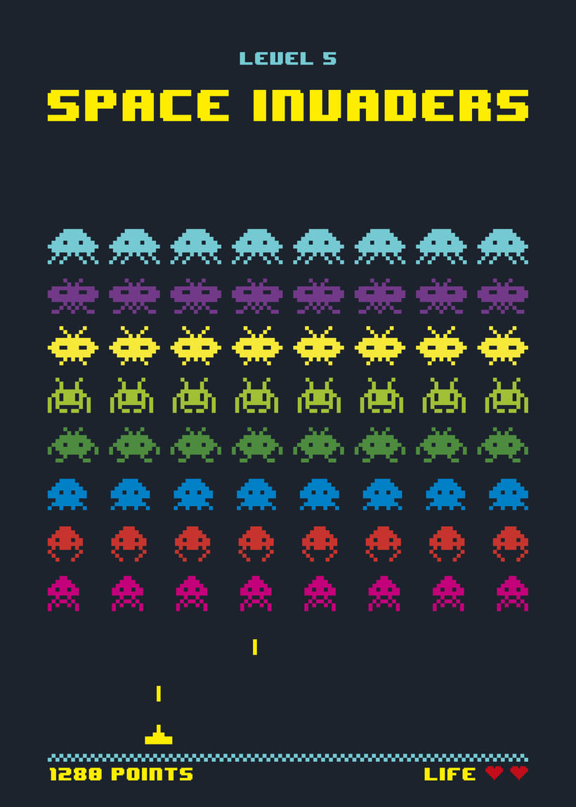 invaders pacman space invaders of the one of the tempos se invadors ...