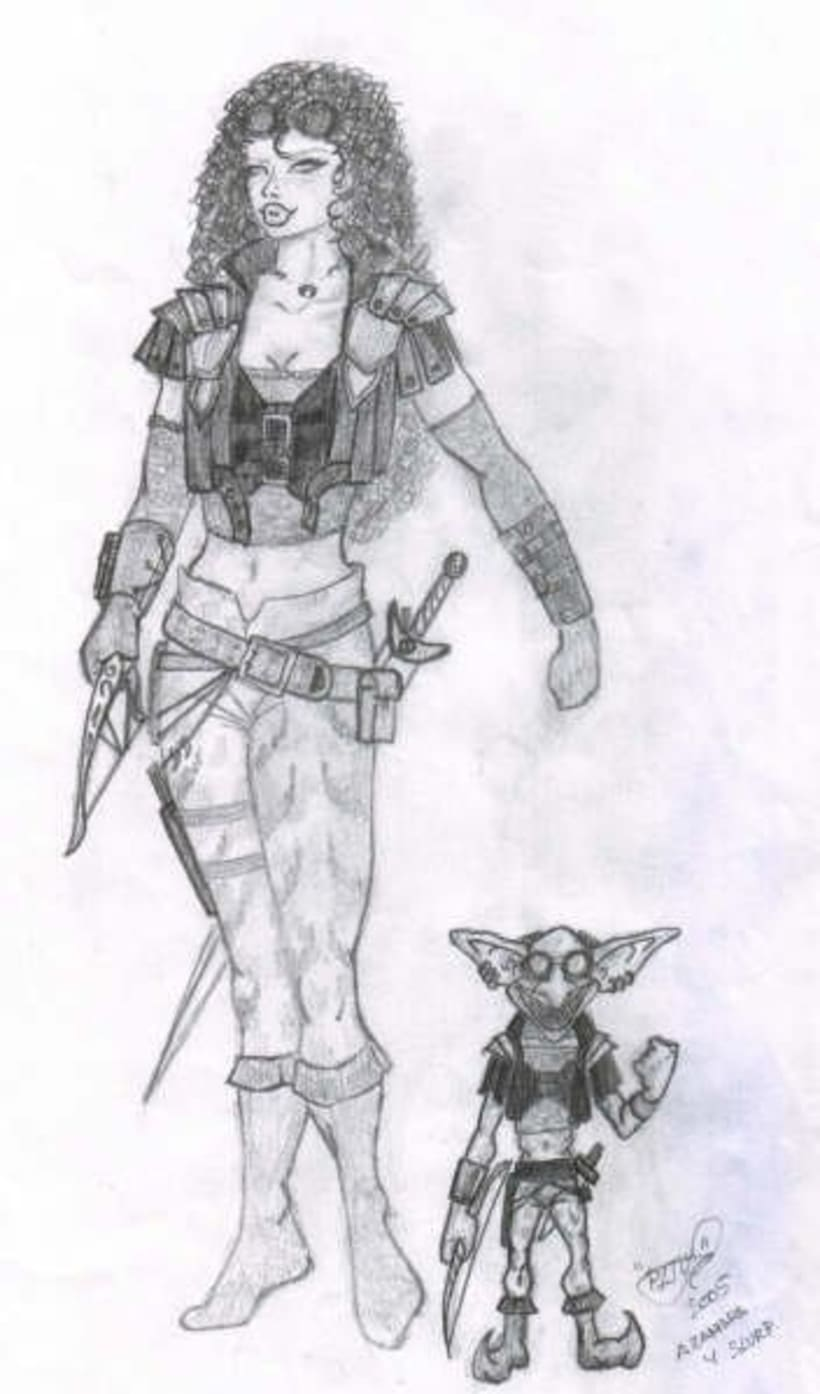 Fantasia guerreras medieval lapiz 12