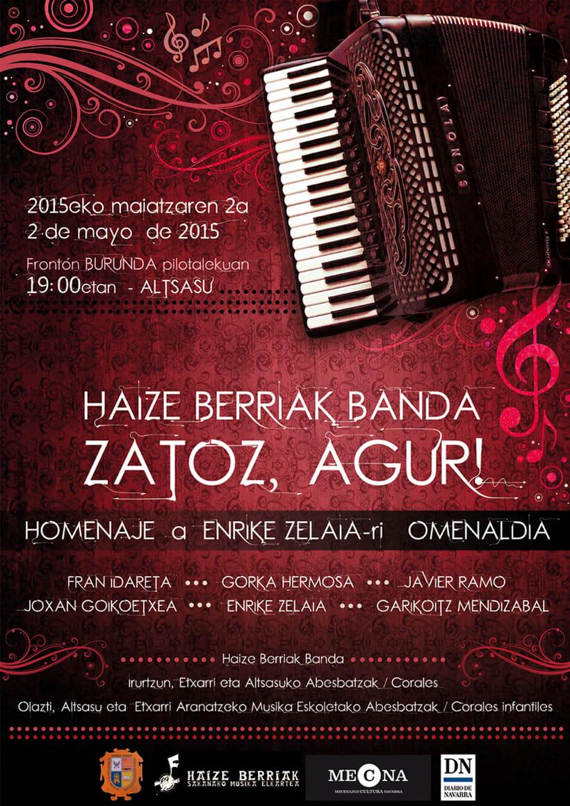 Cartel para Festival Homenaje a Enrike Zelaia (acordeonista) 0