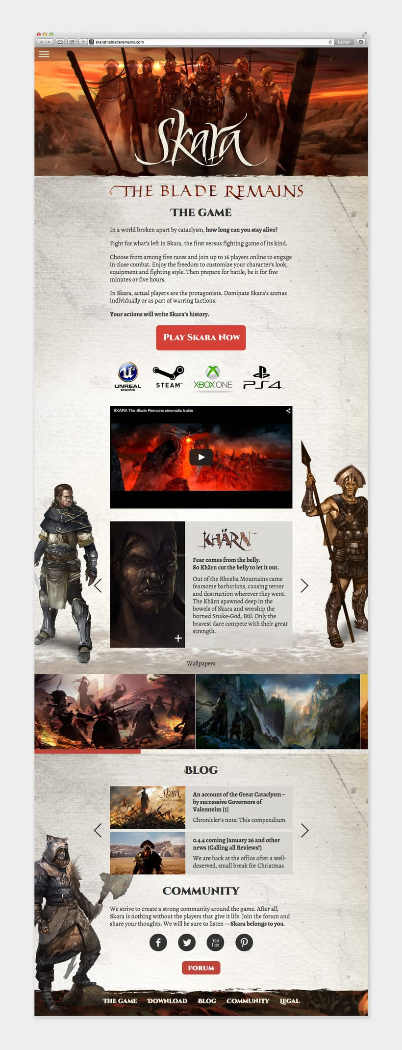 SKARA The Blade Remains. Web responsive 2