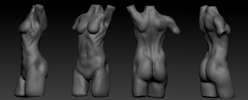 Torso femenino. Zbrush -1