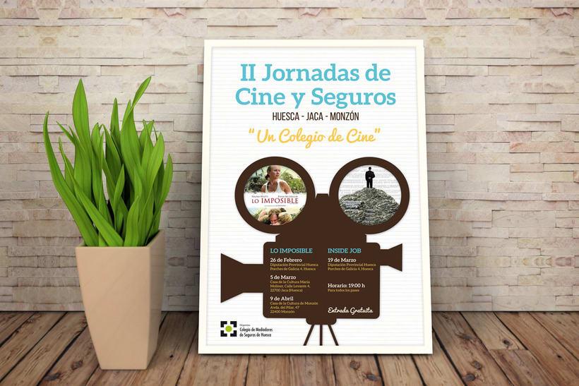 Cartel y Flyer: II Jornadas Cine y Seguros en Huesca 0